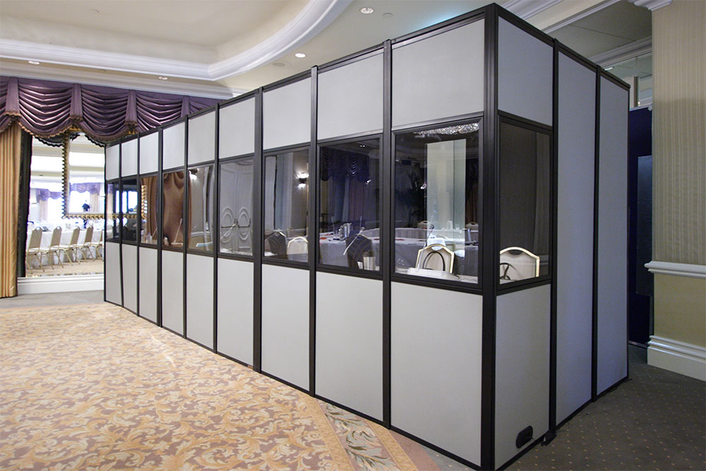 Three ISO compliant fully encapsulated interpreter booths
